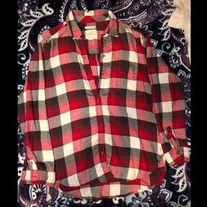 Red American Eagle Flannel